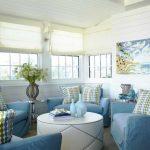 خانهای پرانرژی با دکوراسیون سفید و آبی